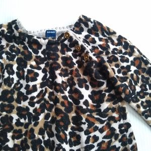Old Navy • Baby girl leopard print sweater dress